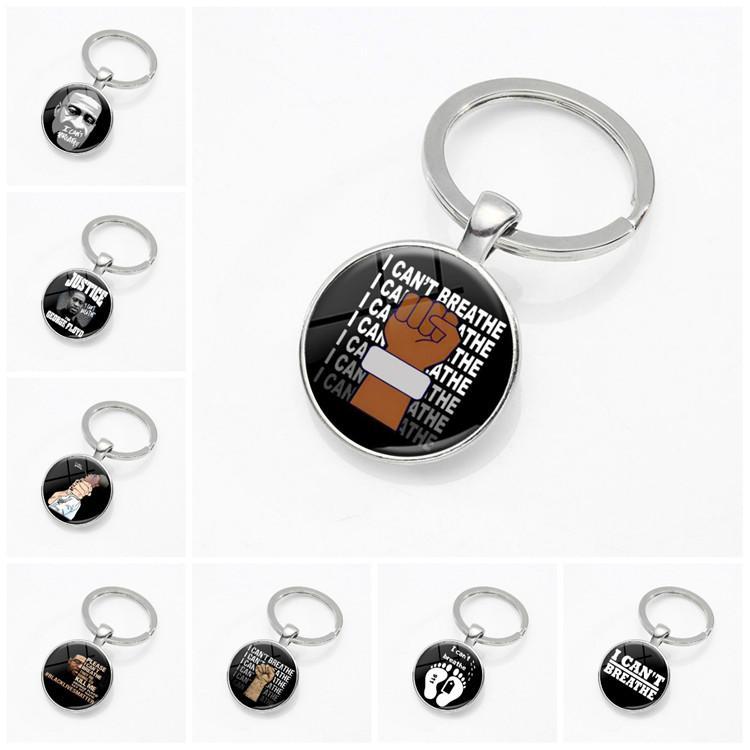 Горячие продажи Время Цепной ключ камень Я НЕ МОГУ ДЫШАТЬ ключ пряжки черные жизни важно ключевое кольцо партии небольшой подарок T9I00395