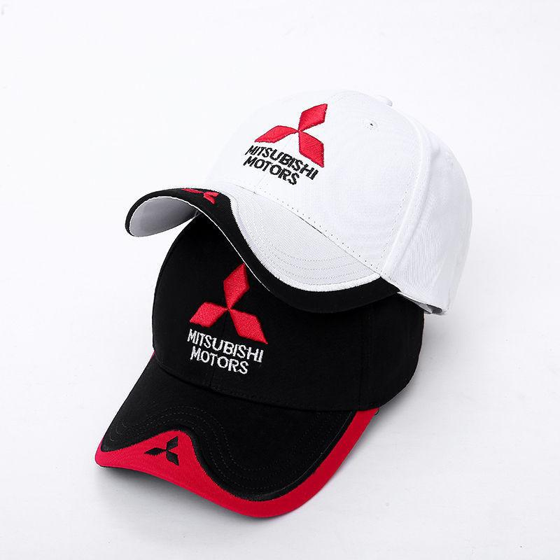 Wholesale 2020 New Fashion 3D Mitsubishi Hat Cap Car logo MOTO GP Racing F1 Baseball Cap Hat Adjustable Casual Trucket Hat T200611