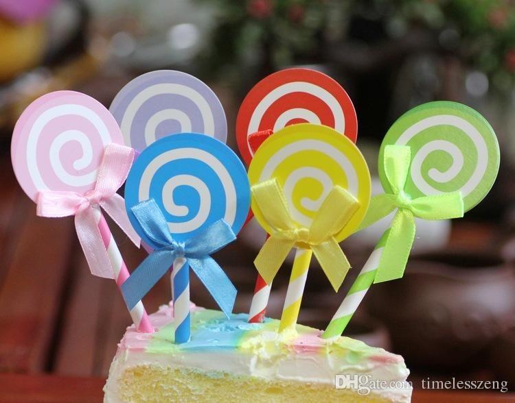 Phenomenal 2020 Colorful Lollipop Cake Topper Happy Birthday Cake Inserted Birthday Cards Printable Inklcafe Filternl