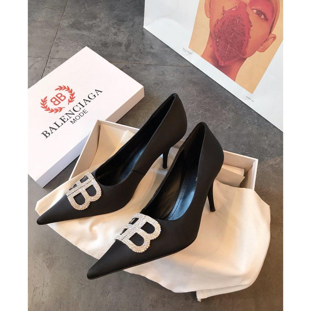 Italian new wedding shoes Rhinestone high heel women's shoes 030401