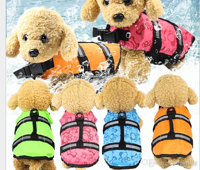 Pet colete salva-vidas para cães suprimentos verão cão de tamanho swimwear cão colete salva-vidas