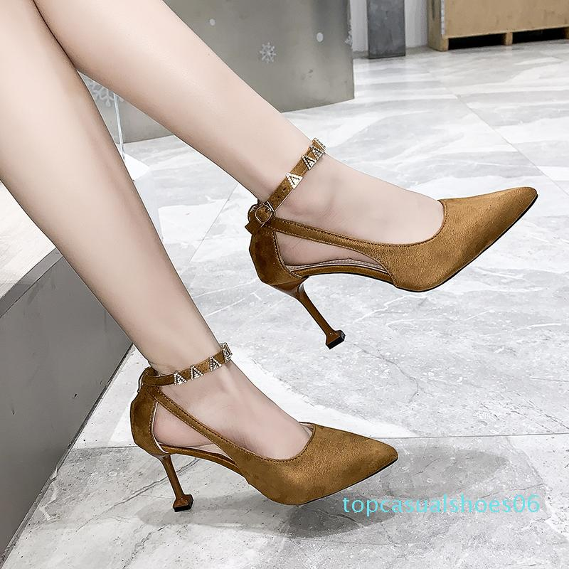 New Women Pumps Fashion High Thin Heels Ladies Party Shoes Classic Open Toe Sandals Woman Sexy Wedding Shoes Sapatos Feminino t6