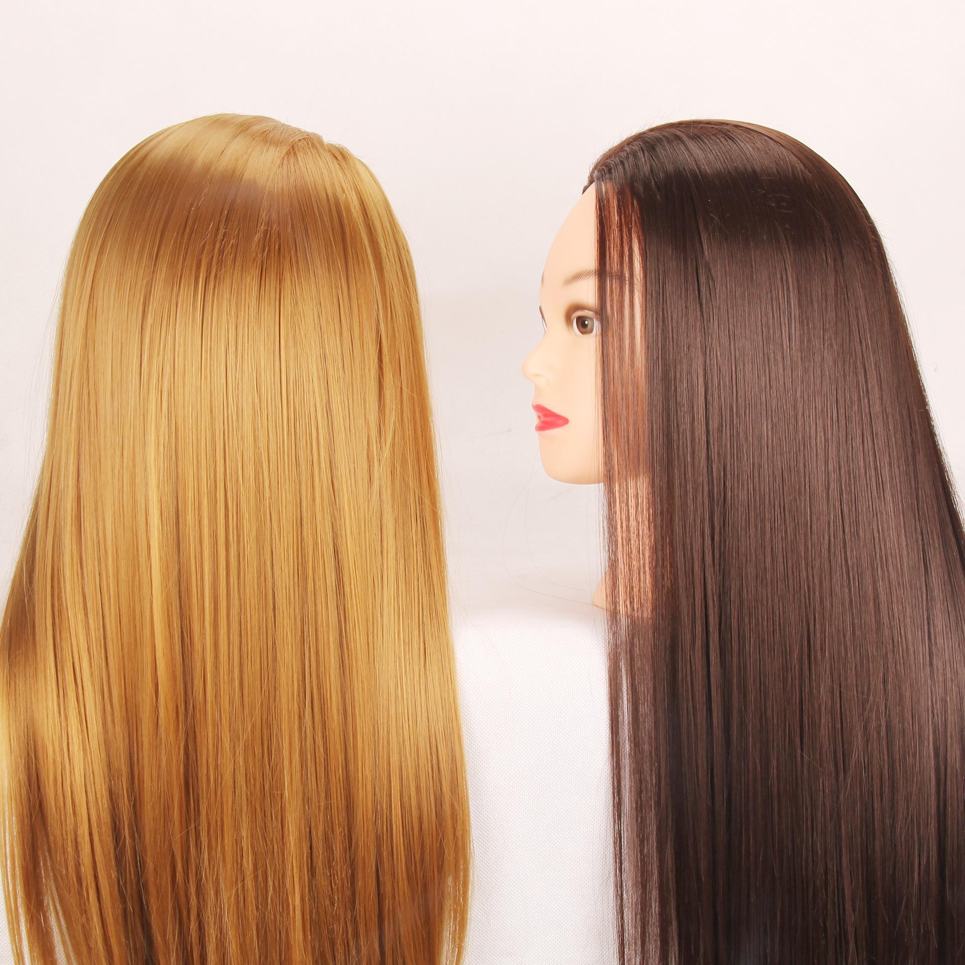 Nueva peluca de pelo Maniquíes Cabeza Modelo de Formación Práctica pelo pista placa Maquillaje de la muñeca maniquí Modelo caliente de la venta