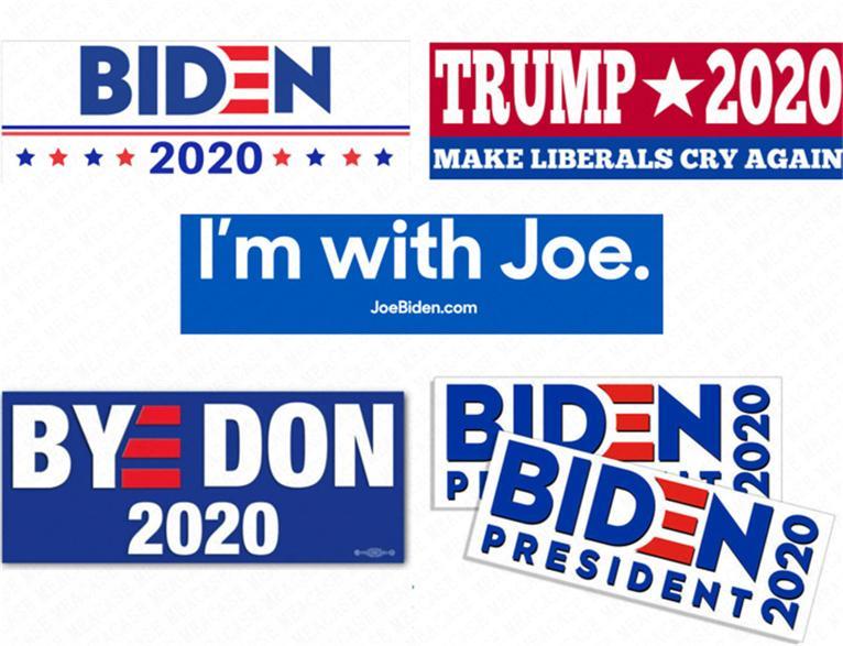 Joe Biden 편지 스티커 대통령 2020 범퍼 스티커 도널드 트럼프 카 스티커 PVC 데칼 미국 미국 캠페인 Paster 기념품 D62903