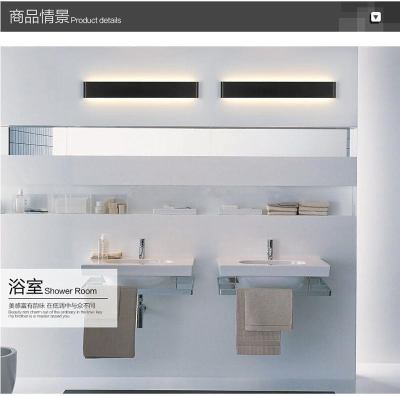Minimalista 90cm Luzes LED de parede modernos 30w alumínio Led arandelas de parede de cabeceira Luzes AC85 -265v Lamparas De Pared Iluminação interna
