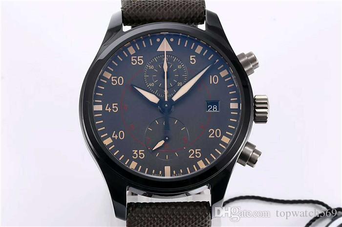 ZF caso de la fábrica nuevo aeroplano de Top Gun reloj de cerámica reloj suizo cronógrafo automático 89361 28800 VPH alta resistencia de cerámica de cristal de zafiro