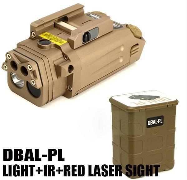 Новый DBAL-PL белый свет светодиодный тактический фонарик с красной лазерной указкой и ИК-подсветкой Dark Earth