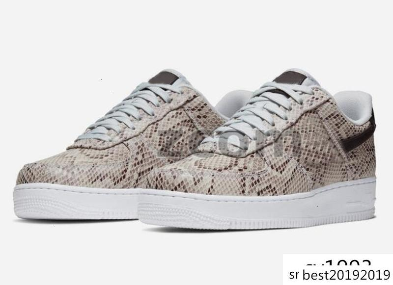 2020 forzate bassa Snakeskin Running Shoes BQ4424-100 donne Mens nuovo progettista Sneakers Trainers quelli Sport 1 des chaussures