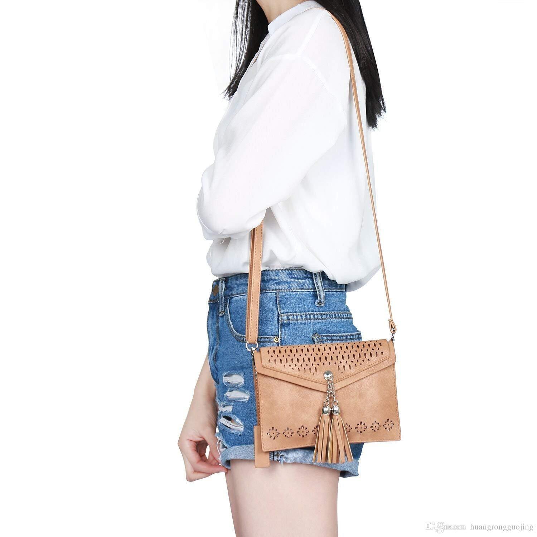 Women Small Crossbody Purse, Tassel Cell Phone Purse Wallet Bags