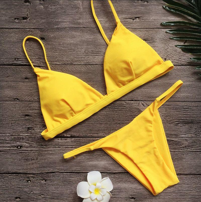 Mayo Kadınlar Tasarımcı Bikini 2019 Seksi Dize biquini Arsız Mayo Mayo Kadın Mirco Thong Brezilyalı Push Up Bikini