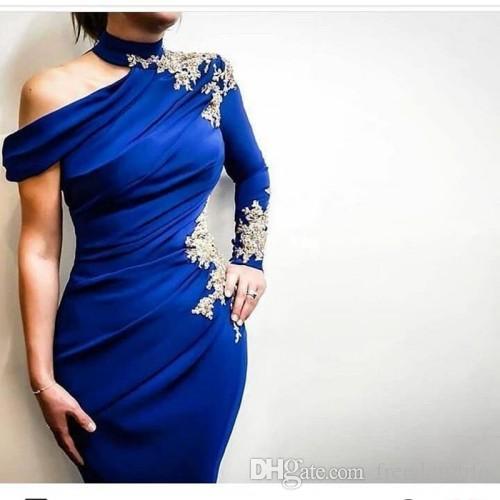 Новое поступление Арабский королевский синий вечерние платья 2019 Кружевное платье вечеринка abiye kaftan dubai Вечерние платья vestido festa longwns