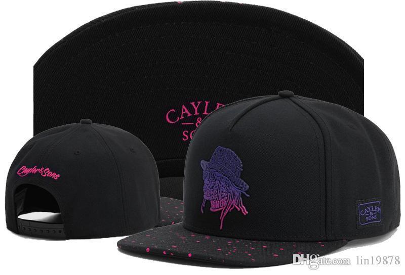 2019 yeni tarzı Cayler Sons kafatası Beyzbol Erkekler Kadınlar Snapback Şapka için ayarlanabilir yağma Kemik Gorro Caps