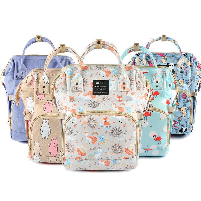 Impermeável mochila para a mãe do bebê saco de fraldas Baby Care Grande Capacidade Maternidade Fralda saco para carrinho de criança ao ar livre Viagem Wet Bag