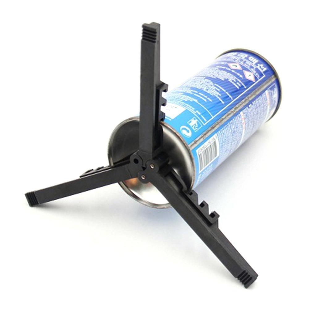 Outdoor Camping Gas Tank Stove Base Holder Cartridge Canister Tripod Braket Bottle Shelf Tilting Prevention Stand