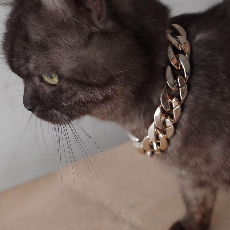 Pet собак Обучение Choke цепь Ошейники для больших собак Strong Пластикового скольжения Dog Cat Collar Ожерелья для Traction Rope