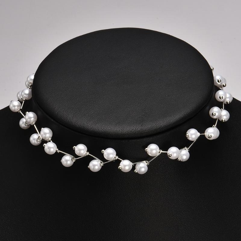 Collo della collana Accessori Corea del Sud Anello del collo della fascia di stile coreano perla Choker Donne Simple Donne Collana girocollo