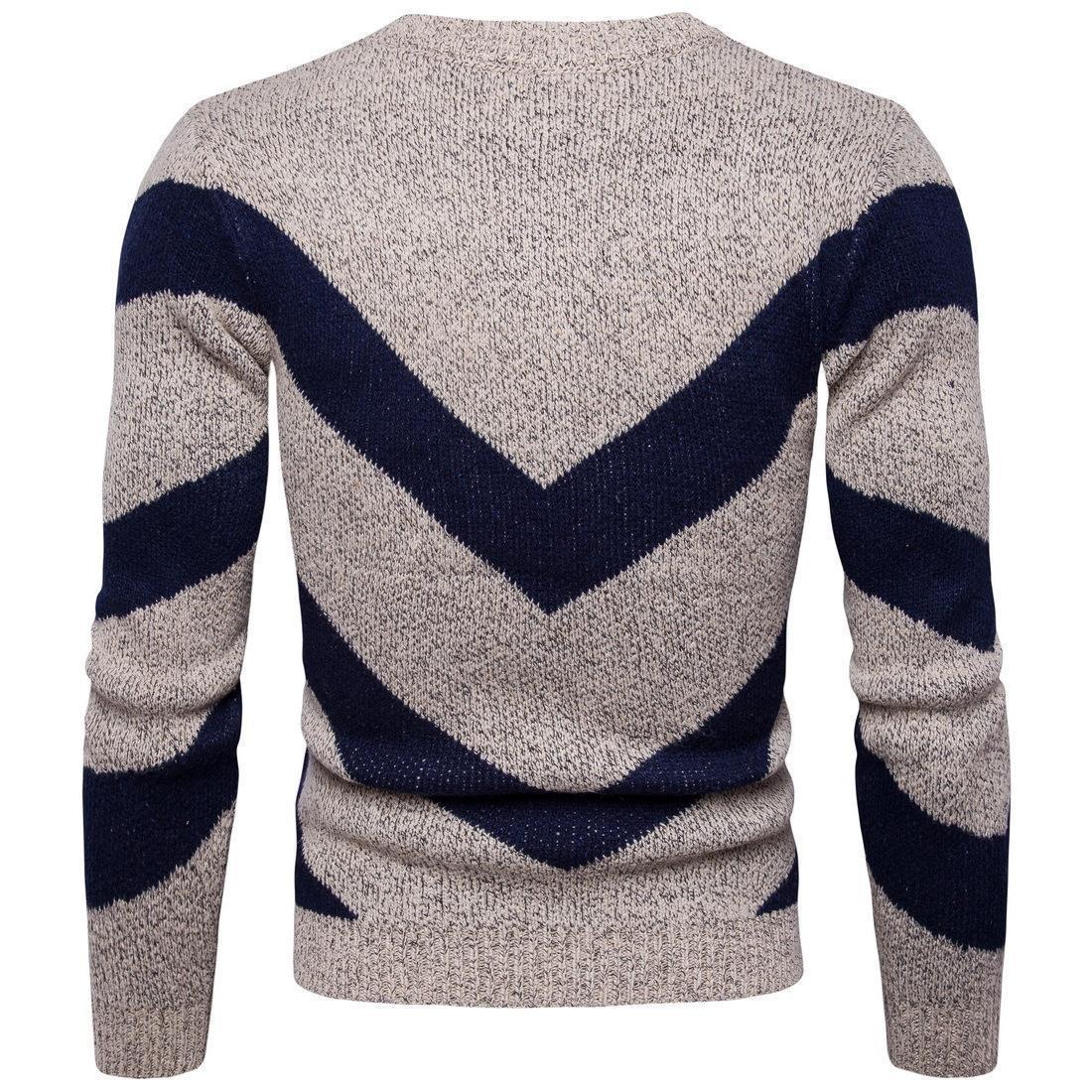 Männer 2018 ausländischer neuer Wintermänner britischer Mode-Rundhals Pullover Mischfarben Männer Pullover Mantel