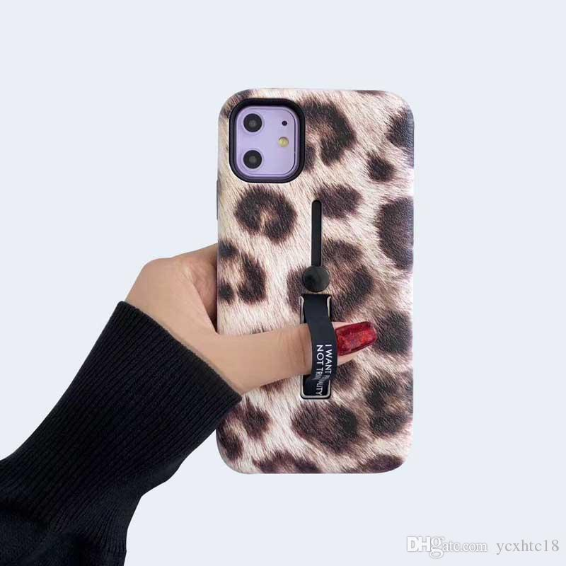 casos de telefone ring Leopard suporte de suporte para iphone 11 pro caso anti-choque caso, a proteção shell tampa traseira para o iphone XS Max XR 8 7 mais