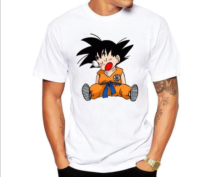 Dragon Ball T Shirt Mens Summer Dragon Ball Z супер сын Гоку Тонкий Fit Косплей 3D футболки аниме VEGETA размер DragonBall Tshirt Homme Азии