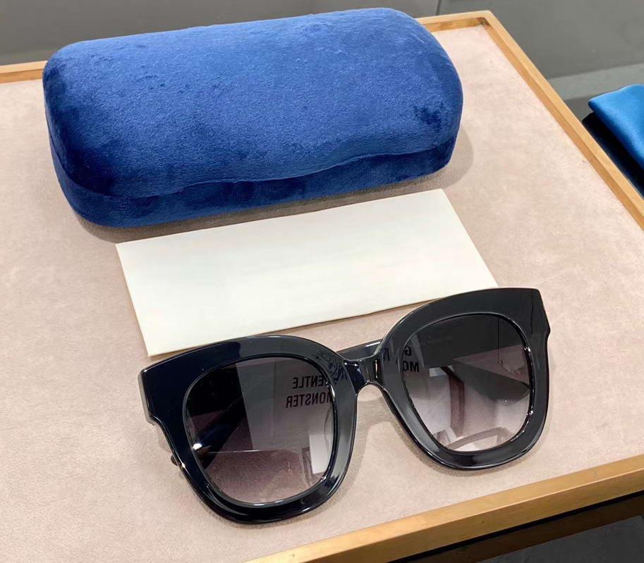 Neue Linse Sonnenbrille mit Sun Grey Gläsern oval 0208s Sonnenbrille Square Schwarz Damen 0208 Gradient Box Frjuu