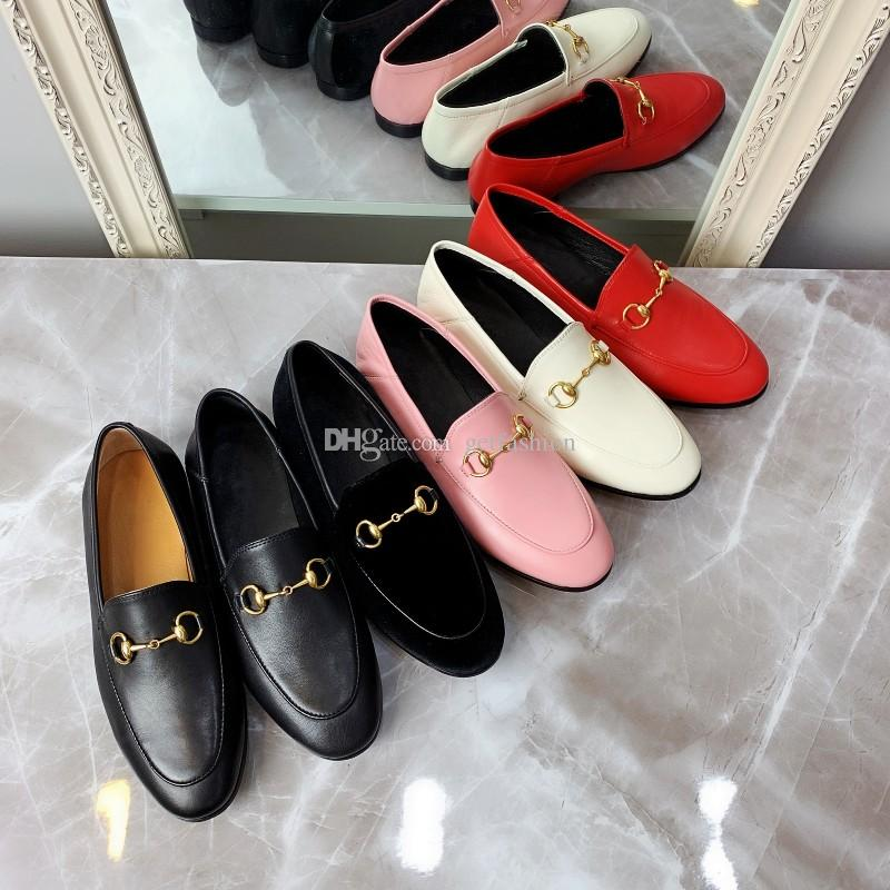 Designer Nouveau dames des femmes des hommes en cuir Mors Mocassins Mules beaucoup de couleurs glissement sur les chaussures de cause à effet de style Luxe Style de grande taille 34-45