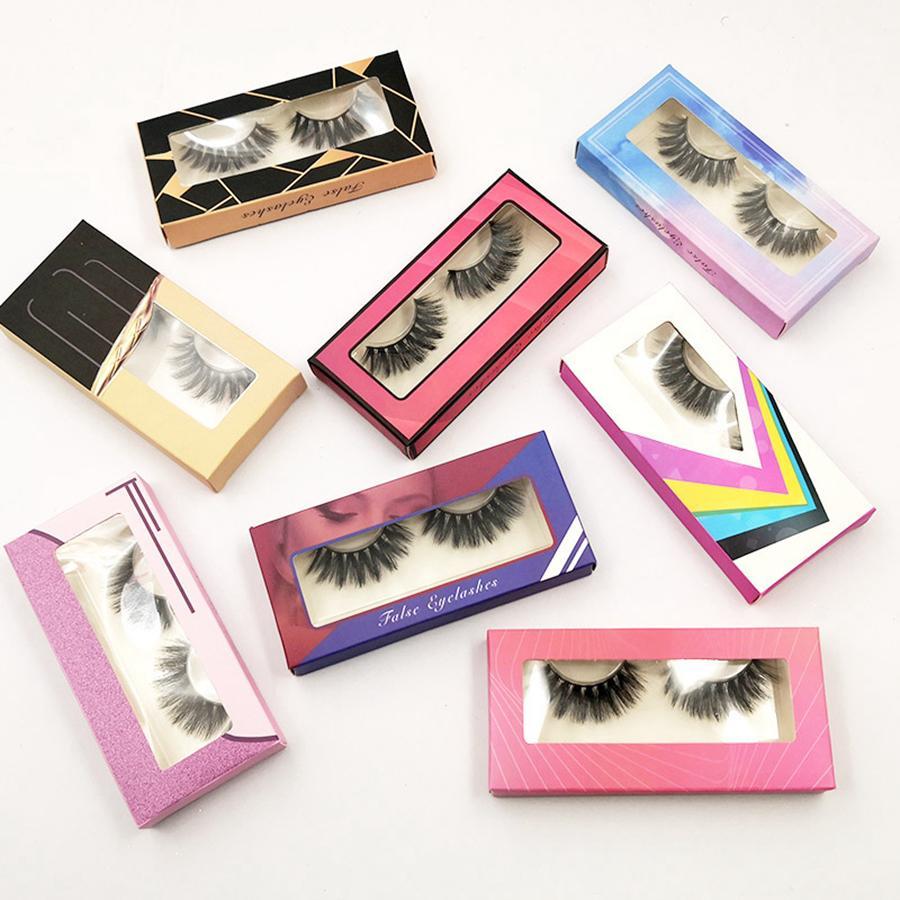 3D Vison Cils naturel Faux cils longs cils Extension Faux Faux cils Maquillage des yeux Outil avec la boîte RRA2694