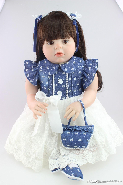 кукла Нового дизайна моды реалистичных возродиться малыш кукла мягкого силиконового винила реального нежное прикосновение 28inches моды подарок на день рождения