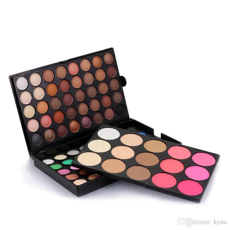 95 Cor da sombra de olho Multi-color Paleta Da Sombra De Maquiagem de Três camadas Combinação Terno Euro-American fashion 95 Cores da Sombra