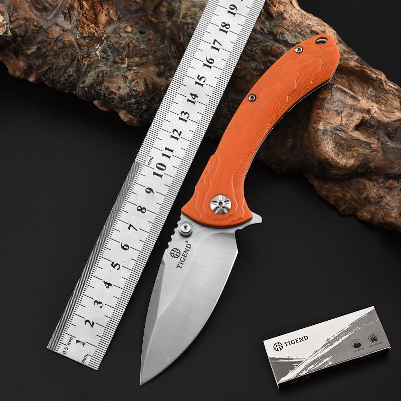 TIGEND bıçak ağızları taktik G10 Rulman D2 Steel açık bıçak sağkalım EDC programı av cebi sabit bıçak Hançer bıçak katlanır