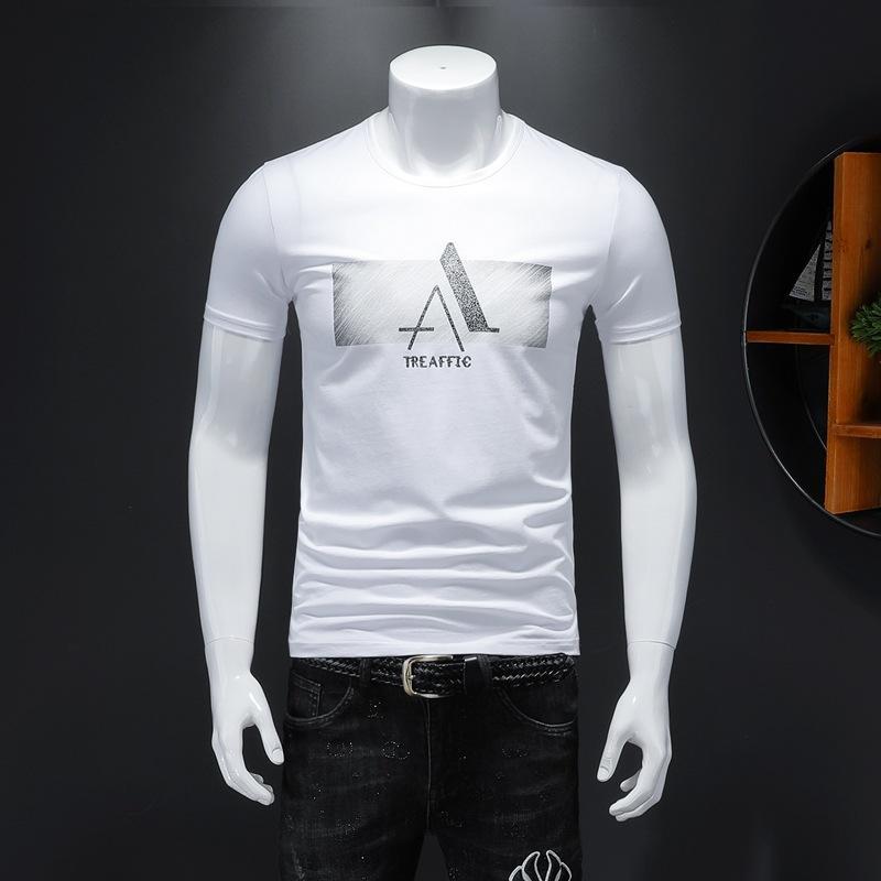 Verano nuevo diseñador tops casuales camisetas para los hombres patrón de las mujeres Camiseta de manga corta ropa streetwear camiseta impresa