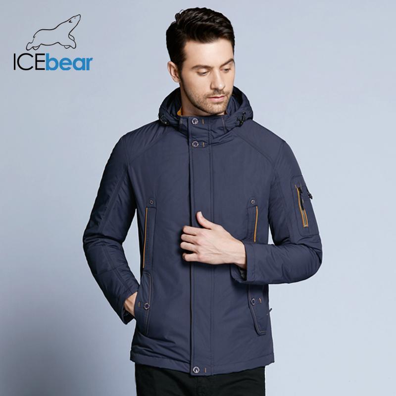 IceBear 2018 Nueva alta calidad de la chaqueta de invierno de gran tamaño informal Marca primavera caliente de la capa 17MC853DMX191012 moda de los hombres chaquetas Parka primavera