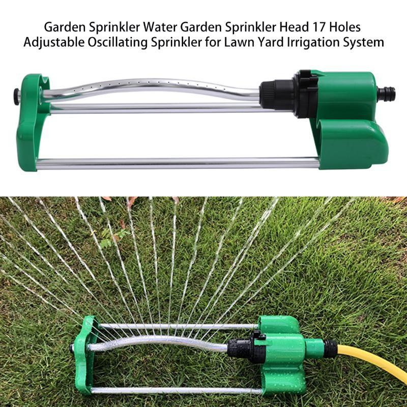 Giardino spruzzatore Water Garden di spruzzatore testa 17 Fori oscillante regolabile per cantiere prato sistema di irrigazione