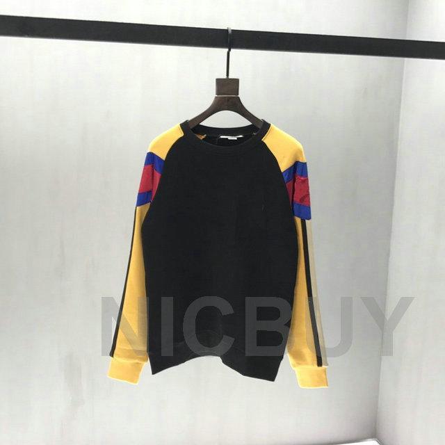 meilleure qualité véritable concepteur de taille couleur patchwork vêtements pour hommes hoodies broderie à rayures lettre de luxe pull-over en coton sweat-shirt décontracté