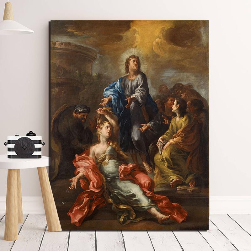 Kutsal Kalp İsa Eski Ustaları Tuval Baskılar Resim Modüler Resimleri İçin Oturma Odası Poster Duvar Ev Dekorasyon