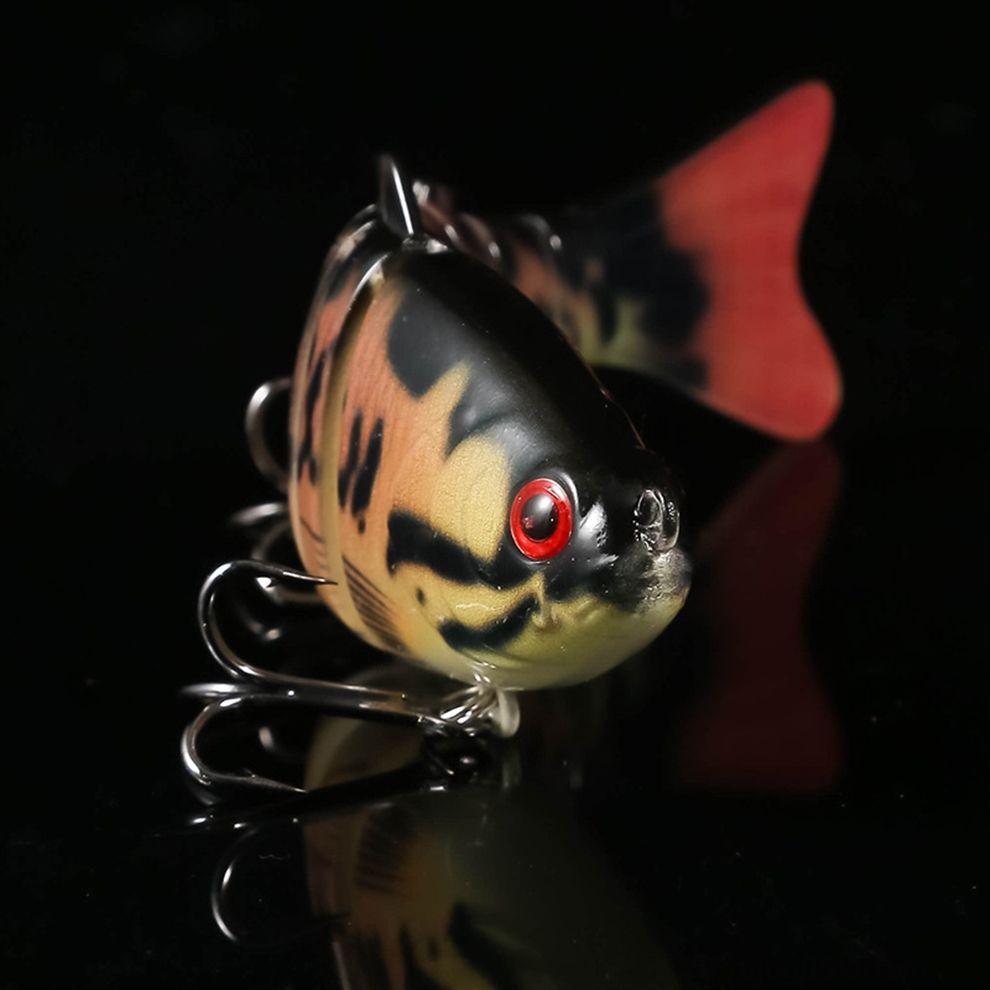 GjlB1 fournit paquet appât faux plomb poisson rouge headbody 3D appât yeux des engins de pêche Luya blanc
