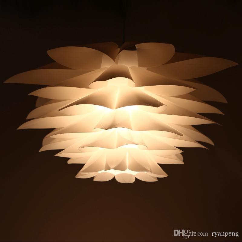 Lotus puzzle Pendant Lamp DIY Paper Lampshade Plastic Chandelier Indoor home Staircase Kitchen Dining room Stairwell Chandelier