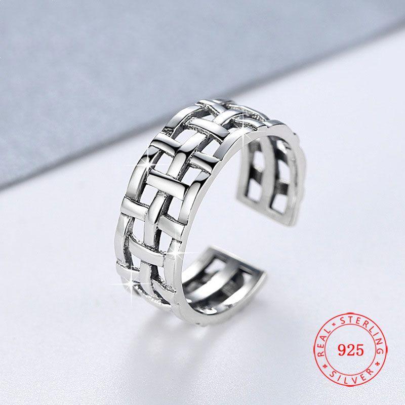 17 millimetri di divertimento Commercio all'ingrosso progettista puro valore anello in argento 925 anello dito indice aperto per le donne gioielli fatti a mano su misura