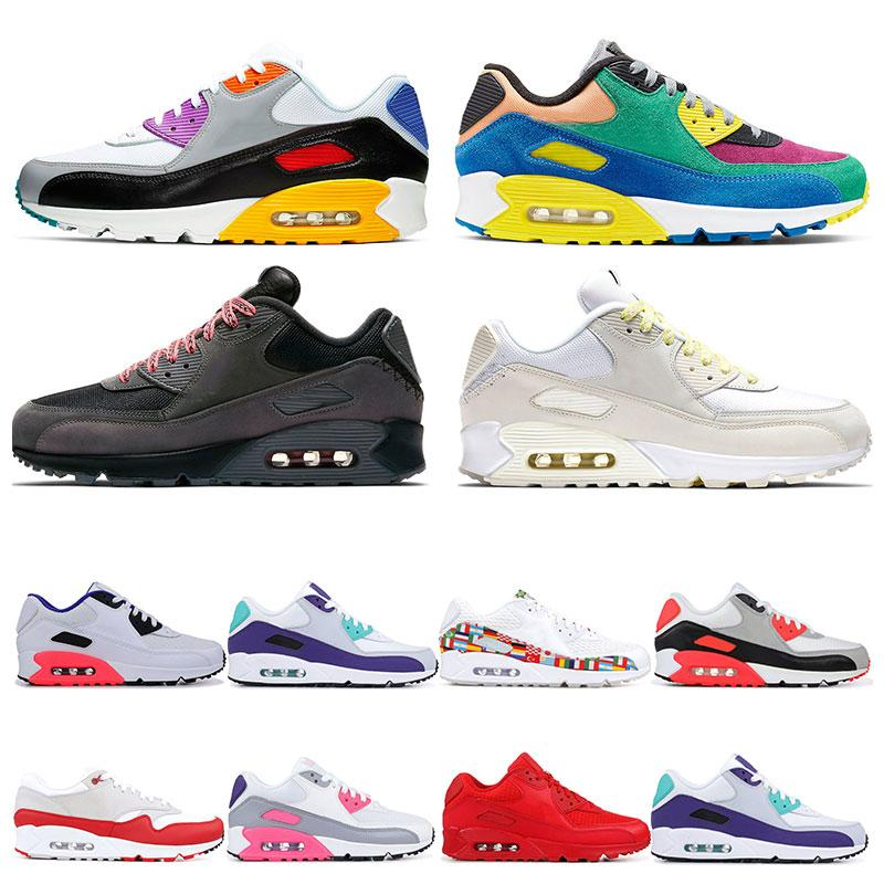 Compre Nike Air Max 90 2020 Nuevas Zapatillas De Running Para Mujer VIOTECH  BE TRUE MIXTAPE Para Mujer Laser Pink Triple Blanco Negro Infrarojo ...