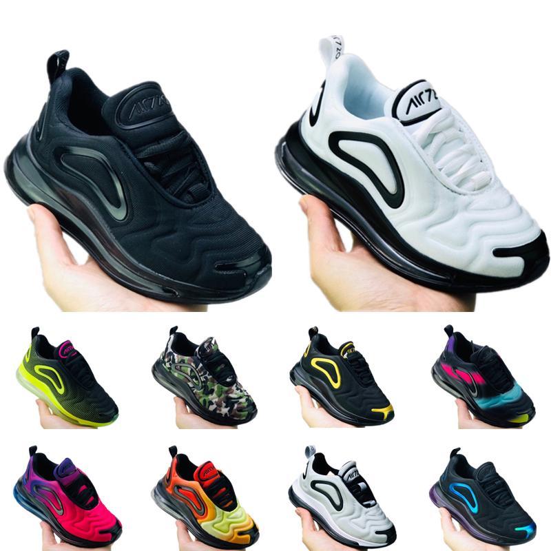 Nike Air Max 720 Kanye West infantile Clay 72 Tout-petits enfants Courir statique chaussures GID de chaussure du sport répandrai garçons Enfant filles des formateurs occasionnels