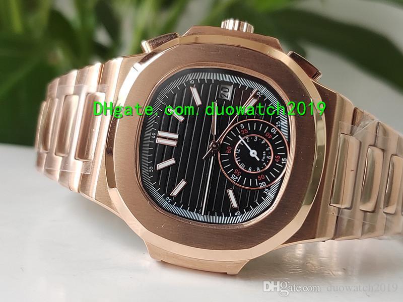 6 컬러 탑 남성 금은 5980 1R 자동 기계 럭셔리 배 스트랩 고품질 사파이어 남성의 스포츠 시계 다이얼 시계 상승