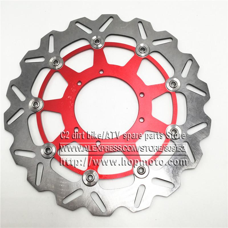 Frein avant oversize onduleux 320MM flottant disque rotor CR125 CR250 CRF250R CRF250X CRF450R CRF450X CRF230F CR500 Supermoto Motard