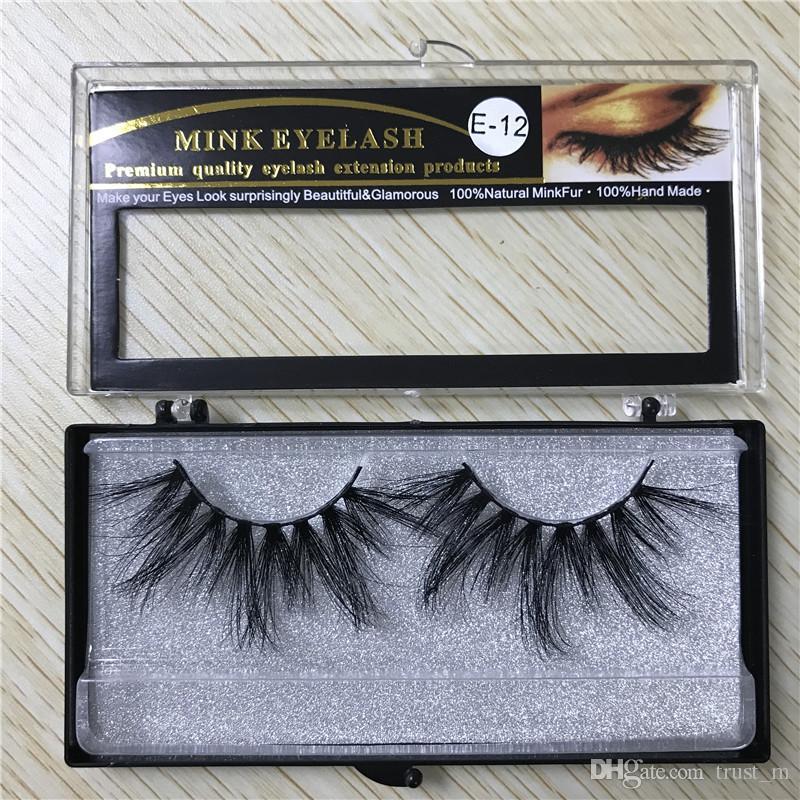 25MM طويل 6D المنك الشعر الرموش الصناعية لجعل رمش الإطالة نسخة باليد مع مربع 15style
