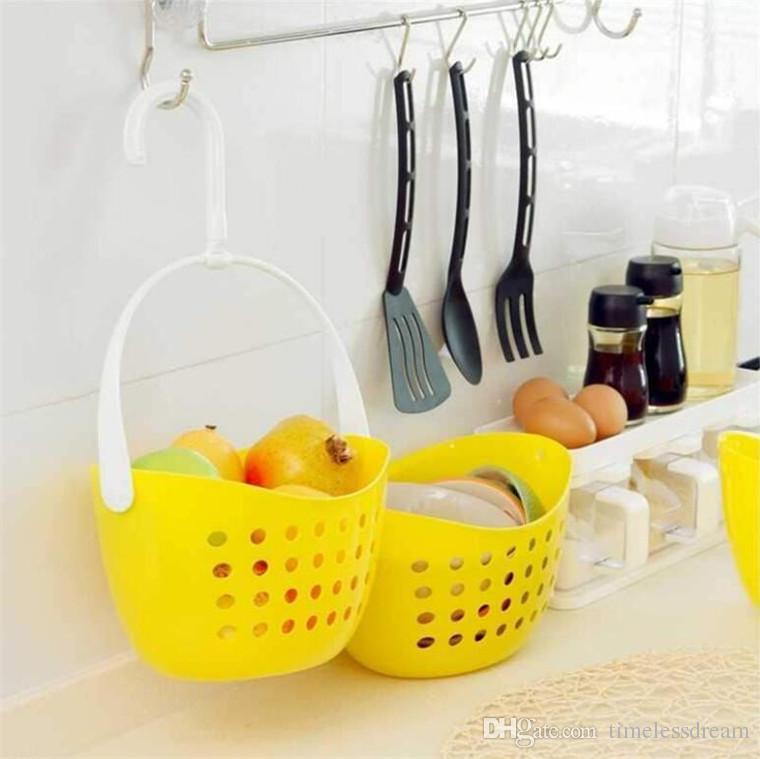 2019 Hanging Storage Basket Kitchen Vegetable Fruit Basket Shower Caddy  Bath Rack Plastic Hanging Over Tidy Shower Organizer From Timelessdream,  $0.02 ...
