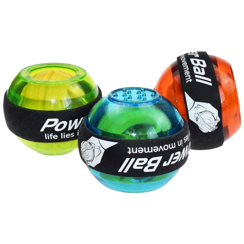Bola de pulso LED Muscle Power Ball Gym instrutor Relaxe giroscópio Arm Exerciser Gyro Bola de Exercício Mão Strengthener Força Equipamentos