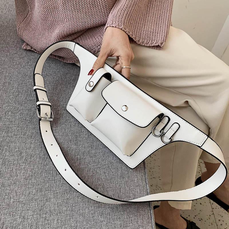 Bom Pacotes Pu Bolsas Para Pacotes Peito Mulheres Lady Bolsas Cintura de Cintura Feminino Fanny e Moda 2020 Sacos de Couro # 30 Tqhor