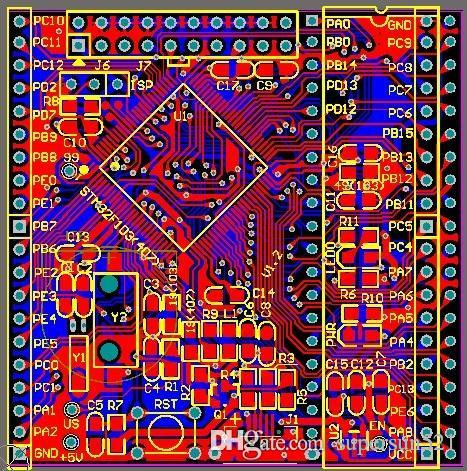 Stm32f407 development board Schematic and PCB Free Shipping stm32f4x MicroUSB f407 STM32 designed by Altium Designer