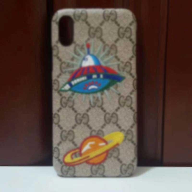 Designer-Mode-Telefon-Kasten für Iphone 11 11 Pro Max X XR Xs max 6 6s 7 8 Plus Marke Creative-Abdeckung mit Stickerei UFO Planet Tiger A06