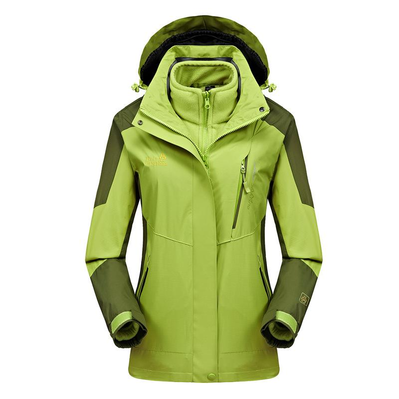 Autumn And Winter New Style Outdoor Climbing Men's And Women's Three-in-One Wind-Resistant Warm Fashion Slim Fit COUPLE'S S