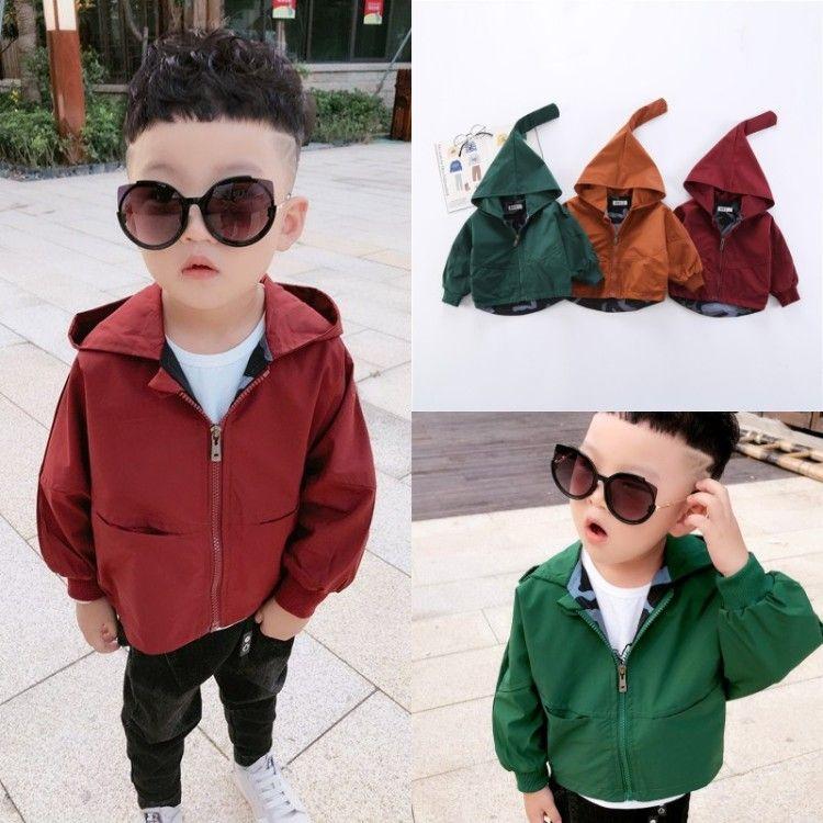 Новая весна пальто для мальчиков пальто куртки для мальчика Ветровка Дети Hoodies Верхняя одежда Одежда детская