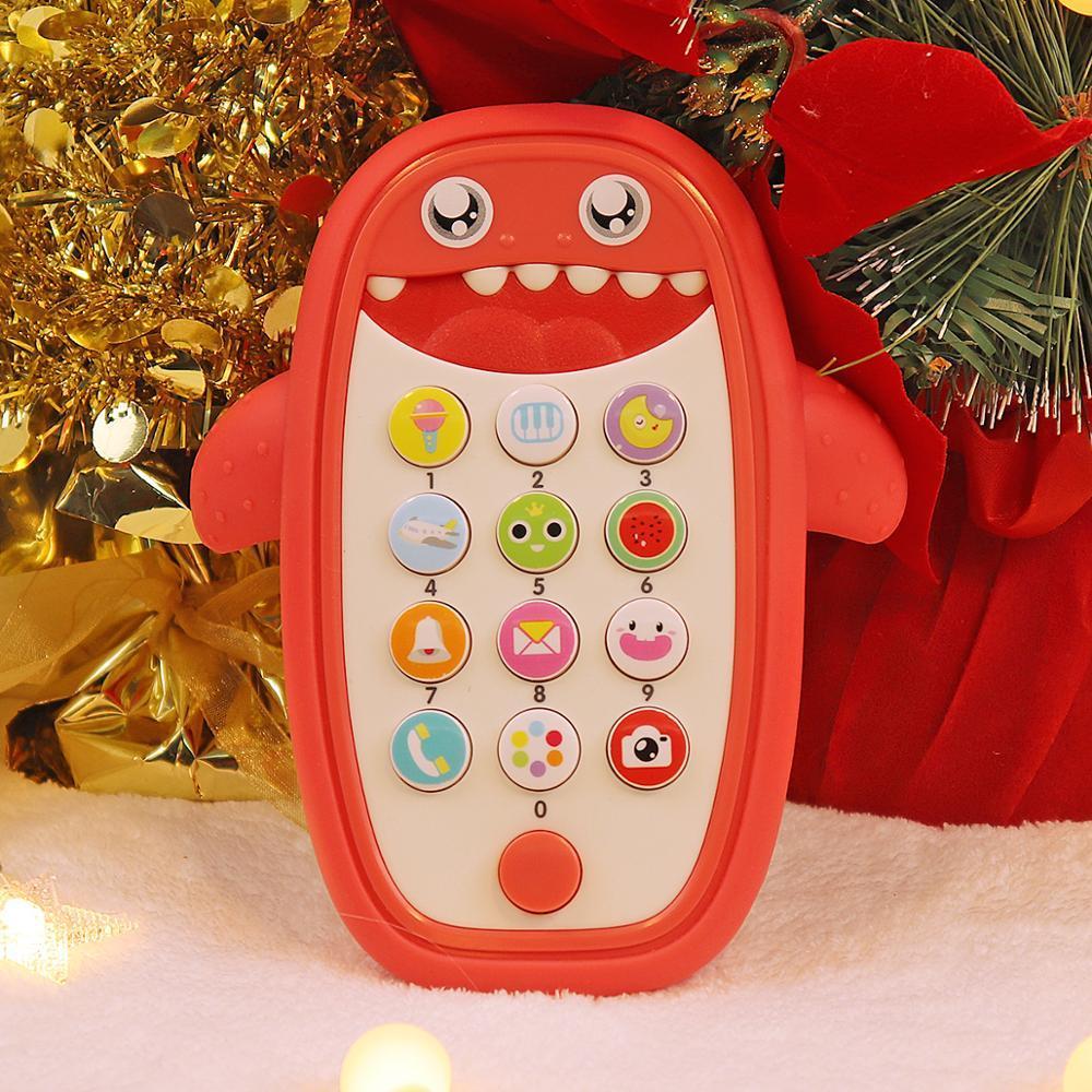 Educación de la primera máquina de la historia de la simulación del juguete del traqueteo Juguetes Cama para 1-3 años de edad bebé escucha de la música del teléfono móvil Juguetes